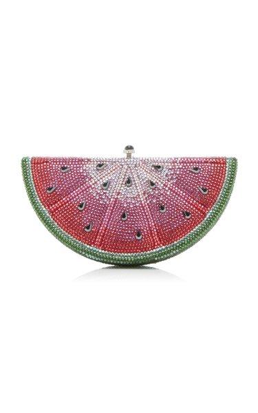 Watermelon Slice Crystal Novelty Clutch