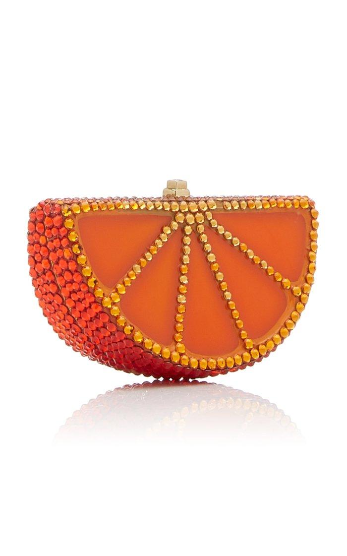 Orange Slice Crystal Pillbox
