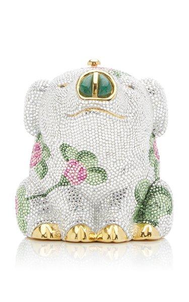 Rosebud Pig Crystal Novelty Clutch