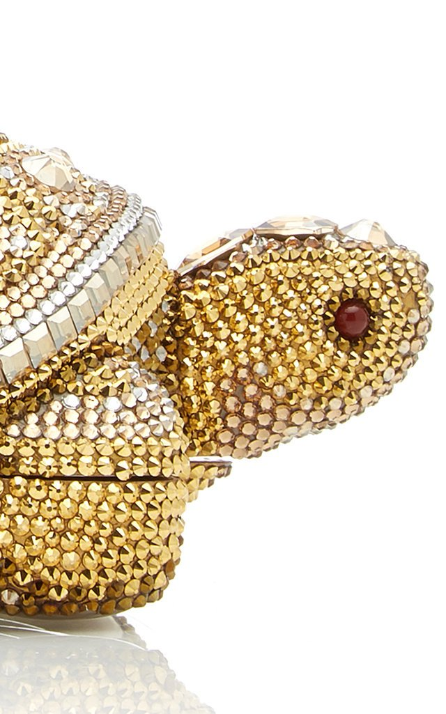 Fortune Turtle Crystal Novelty Clutch