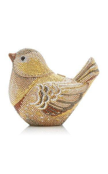Golden Finch Crystal Novelty Clutch
