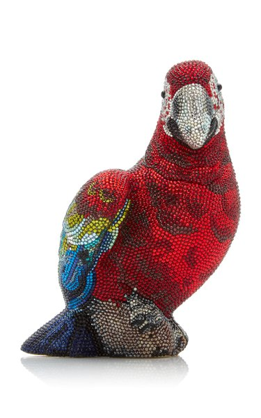 Scarlet Parrot Crystal Novelty Clutch