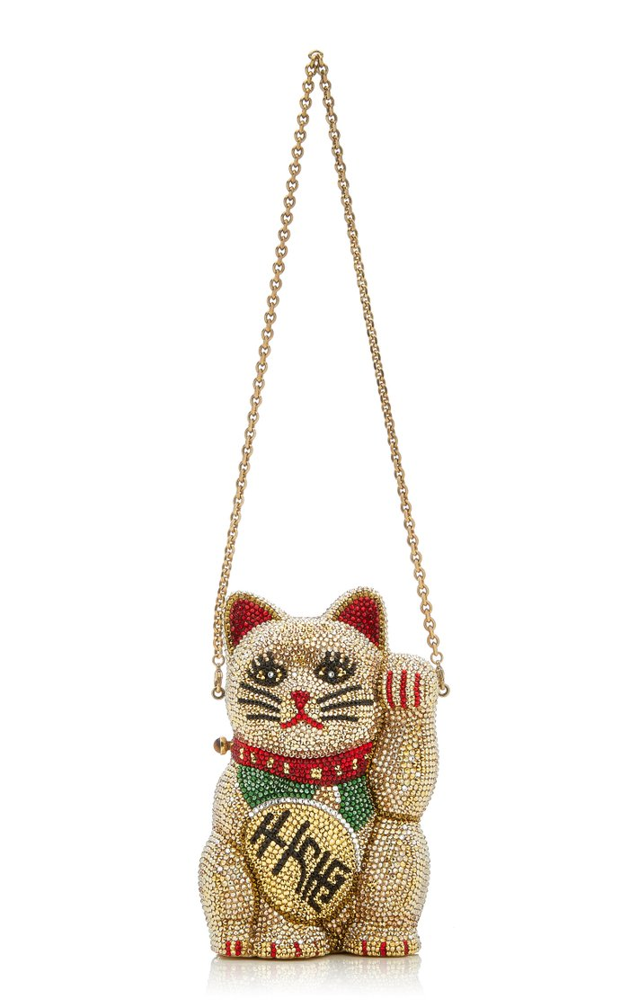 Beckoning Cat Crystal Novelty Clutch