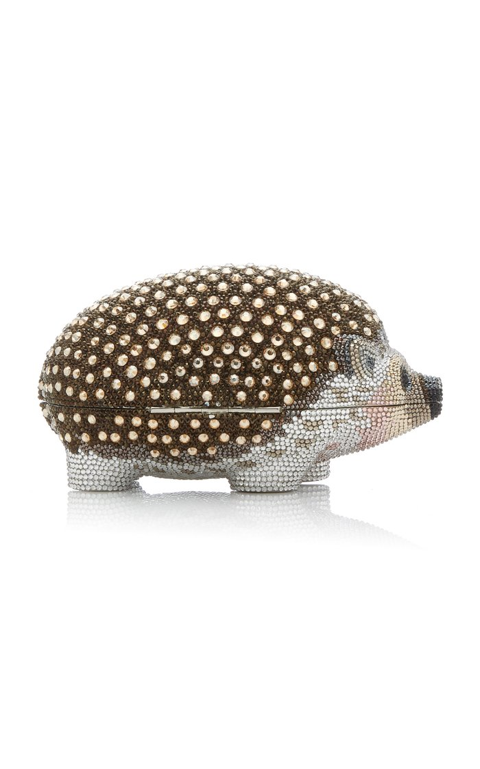 Hedge Hog Crystal Novelty Clutch
