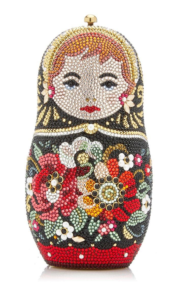 Russian Doll Crystal Novelty Clutch