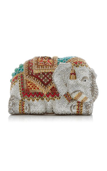 Chang Phuak Elephant Crystal Novelty Clutch
