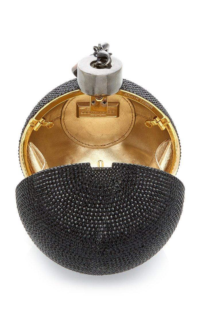 Ball & Chain Crystal Novelty Clutch