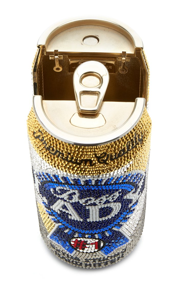 """Boss Lady"" Beverage Can Crystal Novelty Clutch"