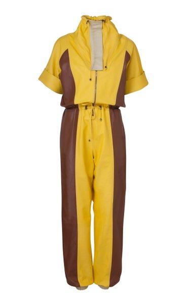 Eva Leather Jumpsuit