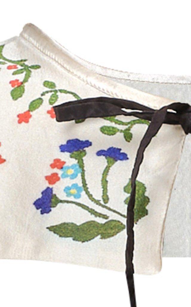 Printed Silk Collar