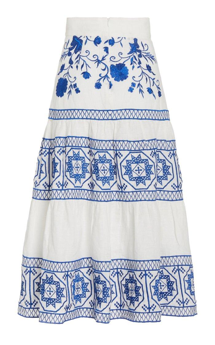Deena Linen Midi Skirt