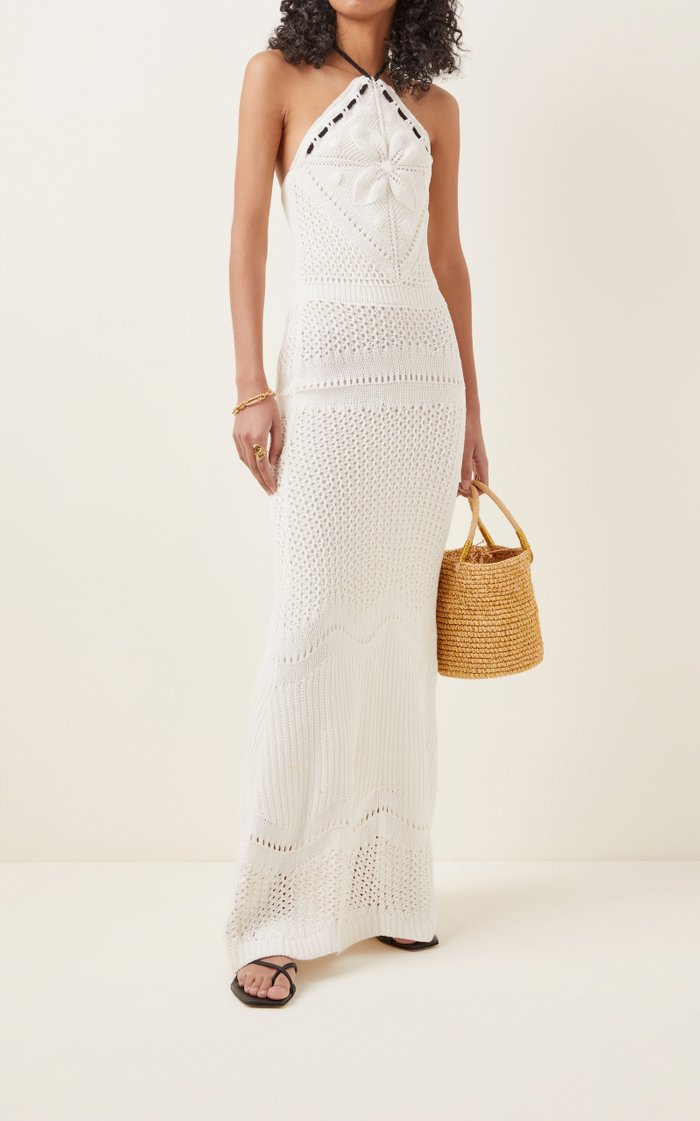 Ibada Cotton Halter Maxi Dress