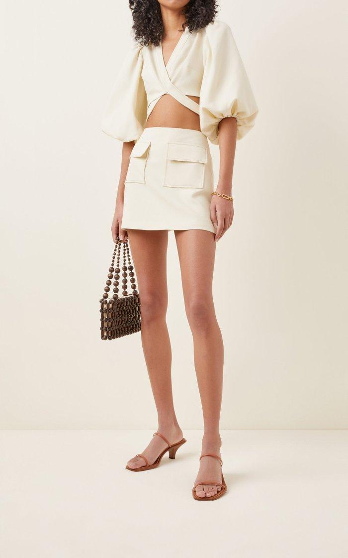 Anderes Crepe Mini Skirt