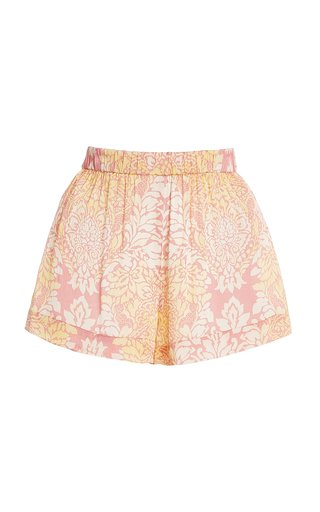 Darra Printed Satin Mini Shorts