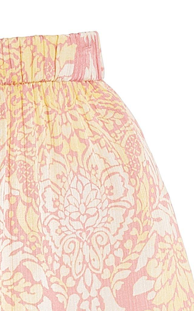 Darra Printed Satin Mini Shorts