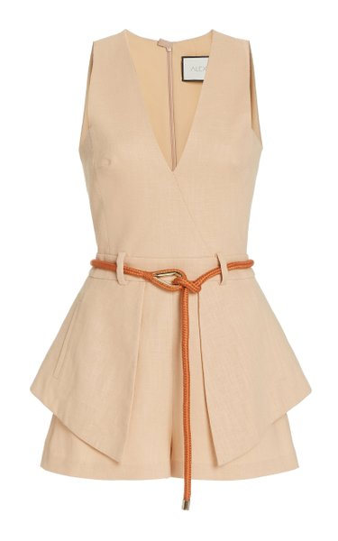 Darby Belted Crepe Playsuit