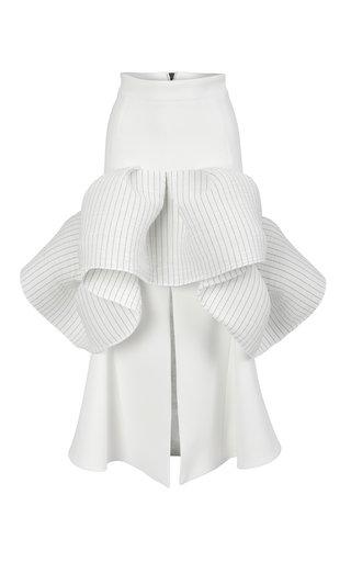 Emblazon Ruffled Cady Skirt