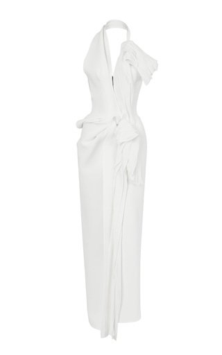 Victoria Ruffled Cady Gown