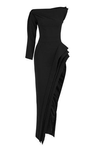 Pinnacle Thigh Slit Cady Gown