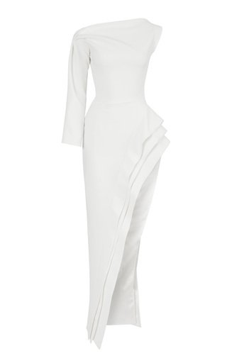 Pinnacle Thigh Slit Cady Gown