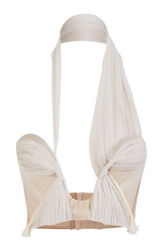 Deliberate Silk Tulle Cady Bustier