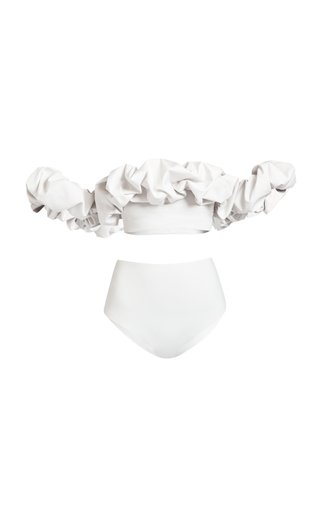Exclusive Alessandra Ruffled Neckline Bikini