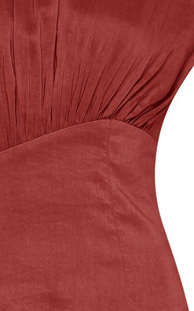 Reflection Tiered Linen-Blend Maxi Dress