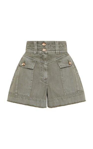 Darcel High-Rise Denim Mini Shorts
