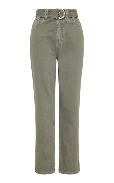 Darcel Rigid High-Rise Straight-Leg Jeans