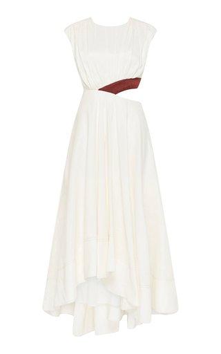Reflection Cutout Linen-Blend Midi Dress