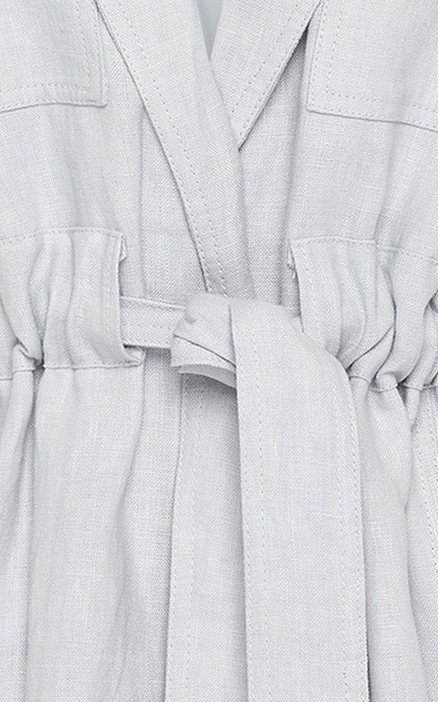Ennoble Drawstring Linen Jacket