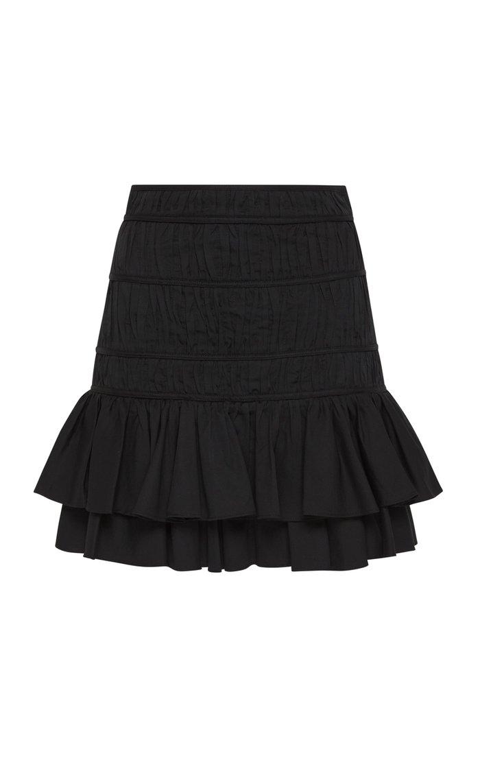 Reine Pleated Cotton Mini Skirt