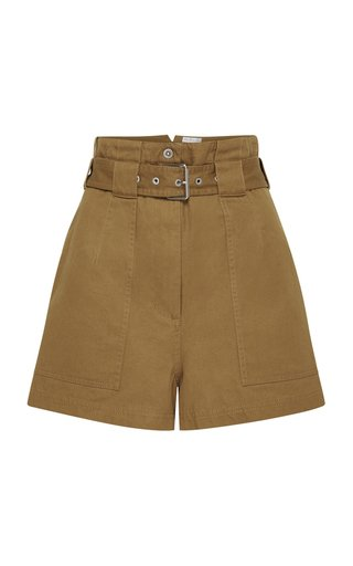 Jolie Belted Cotton Mini Shorts