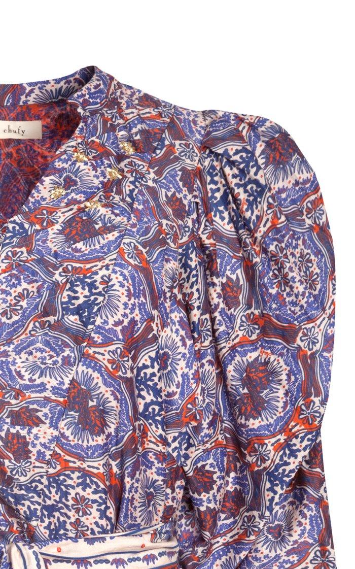 Ma Puff-Sleeve Cotton-Silk Voile Mini Dress