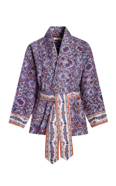 Thida Quilted Printed Cotton-Blend Jacket