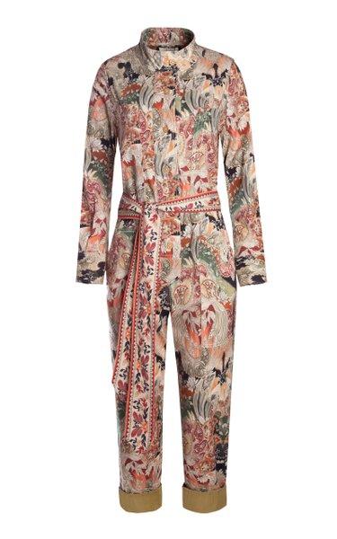 Yon Printed Cotton-Blend Jumpsuit