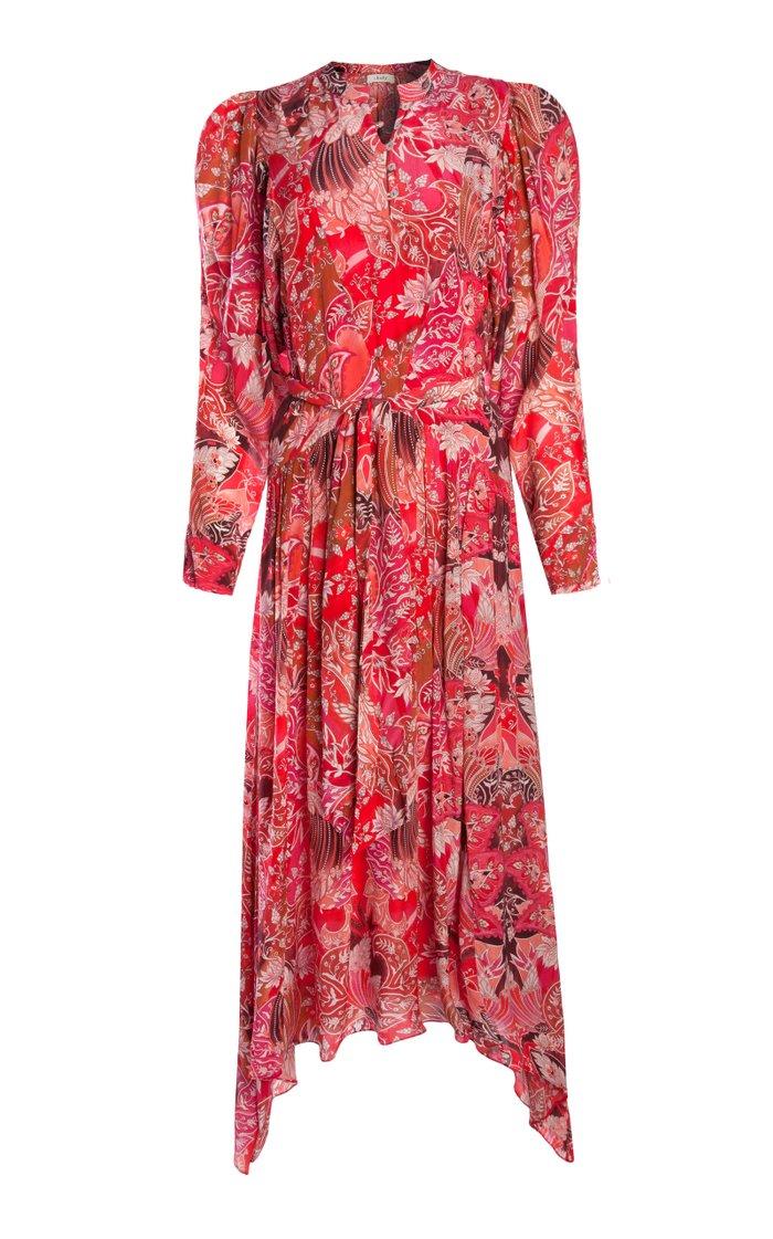 Maiah Printed Crepe De Chine Maxi Dress