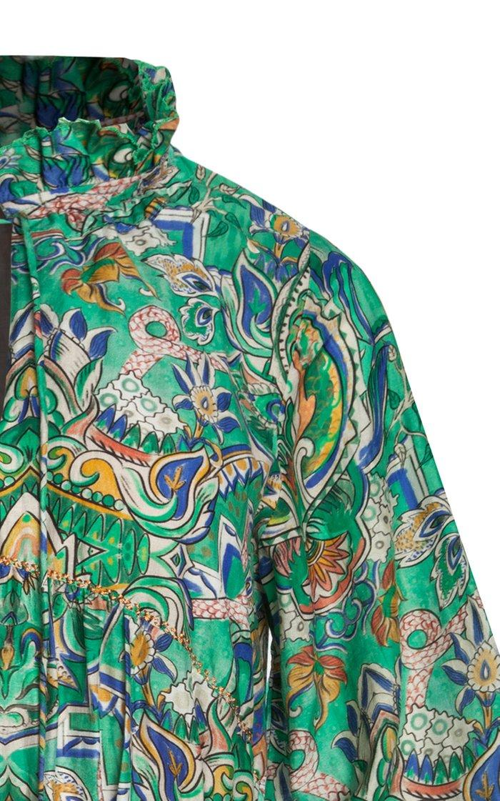 Aye Printed Cotton-Silk Voile Mini Dress
