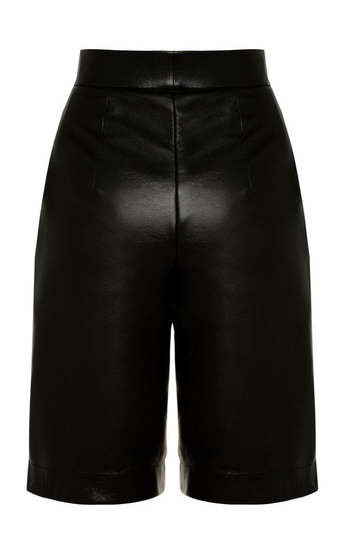 Vegan Leather Shorts