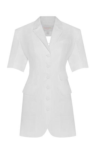 Linen-Cotton Mini Blazer Dress