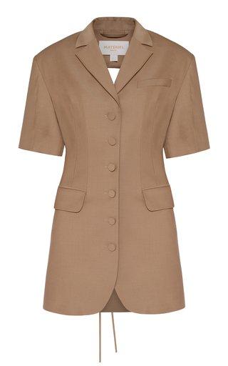 Wool-Blend Mini Blazer Dress