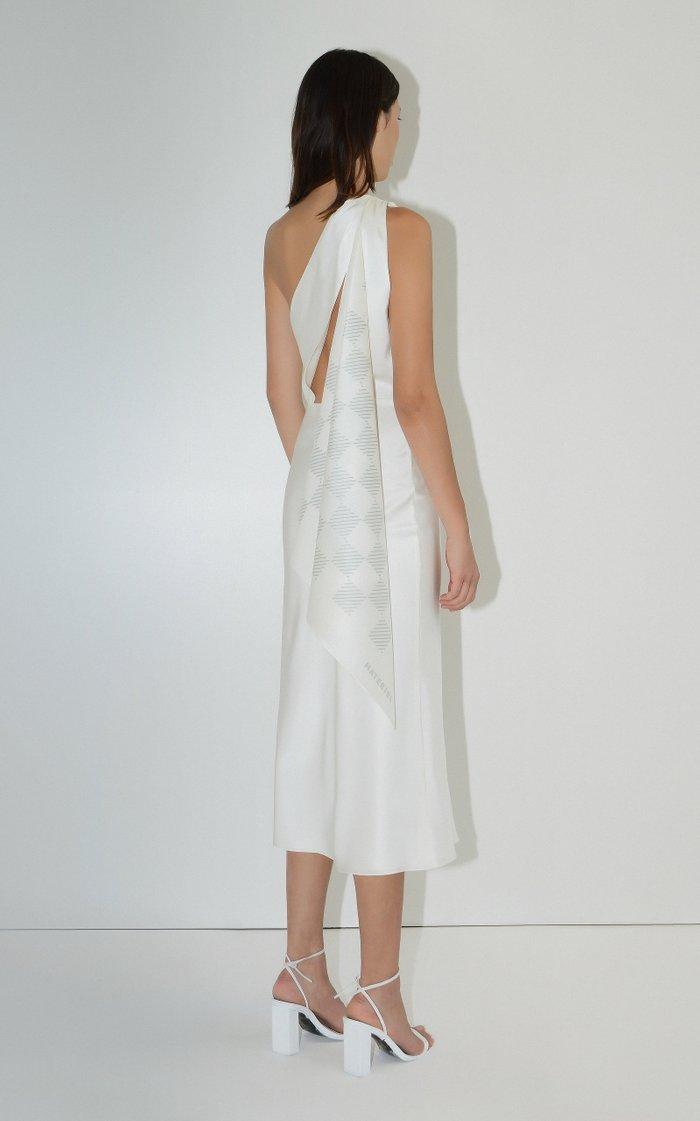 Silk-Satin Handkerchief Dress