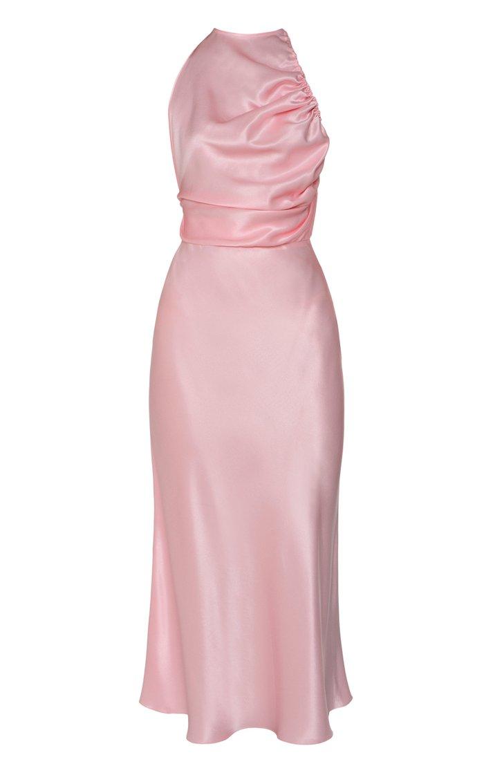 Ballerina Satin Midi Dress