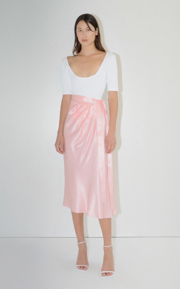 Ballerina Satin Tie Waist Skirt