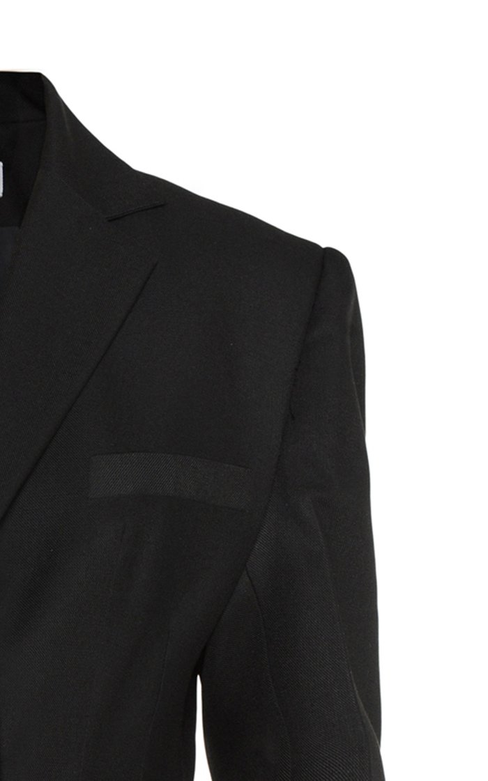 Structured Crepe Menswear Blazer