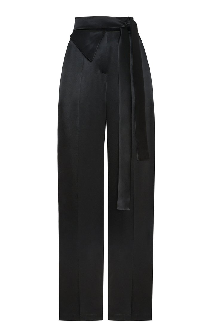 Slouch Satin Flared Pants