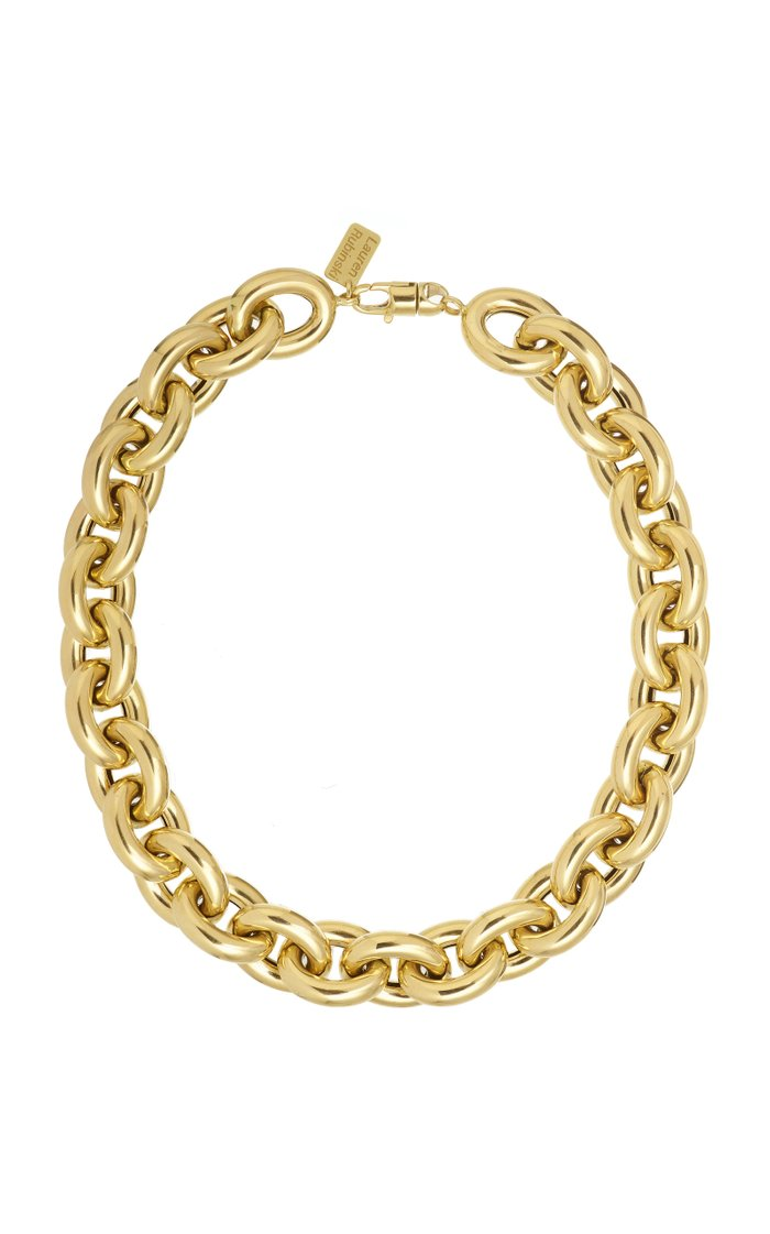 14K Yellow Gold Extra Large Lucky Gold Links Necklace