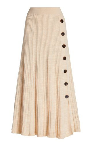 Hettie Ribbed Cotton Maxi Skirt