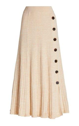 Hettie Ribbed Cotton Maxi Skirt