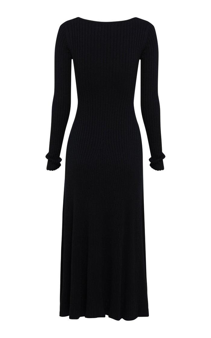 Vesna Cotton Ribbed-Knit Dress